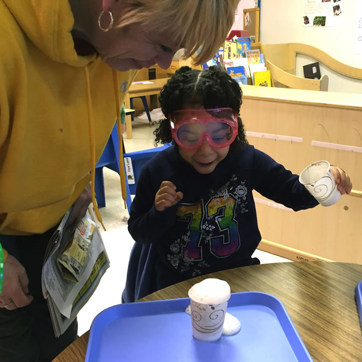Making foam at a Head Start location