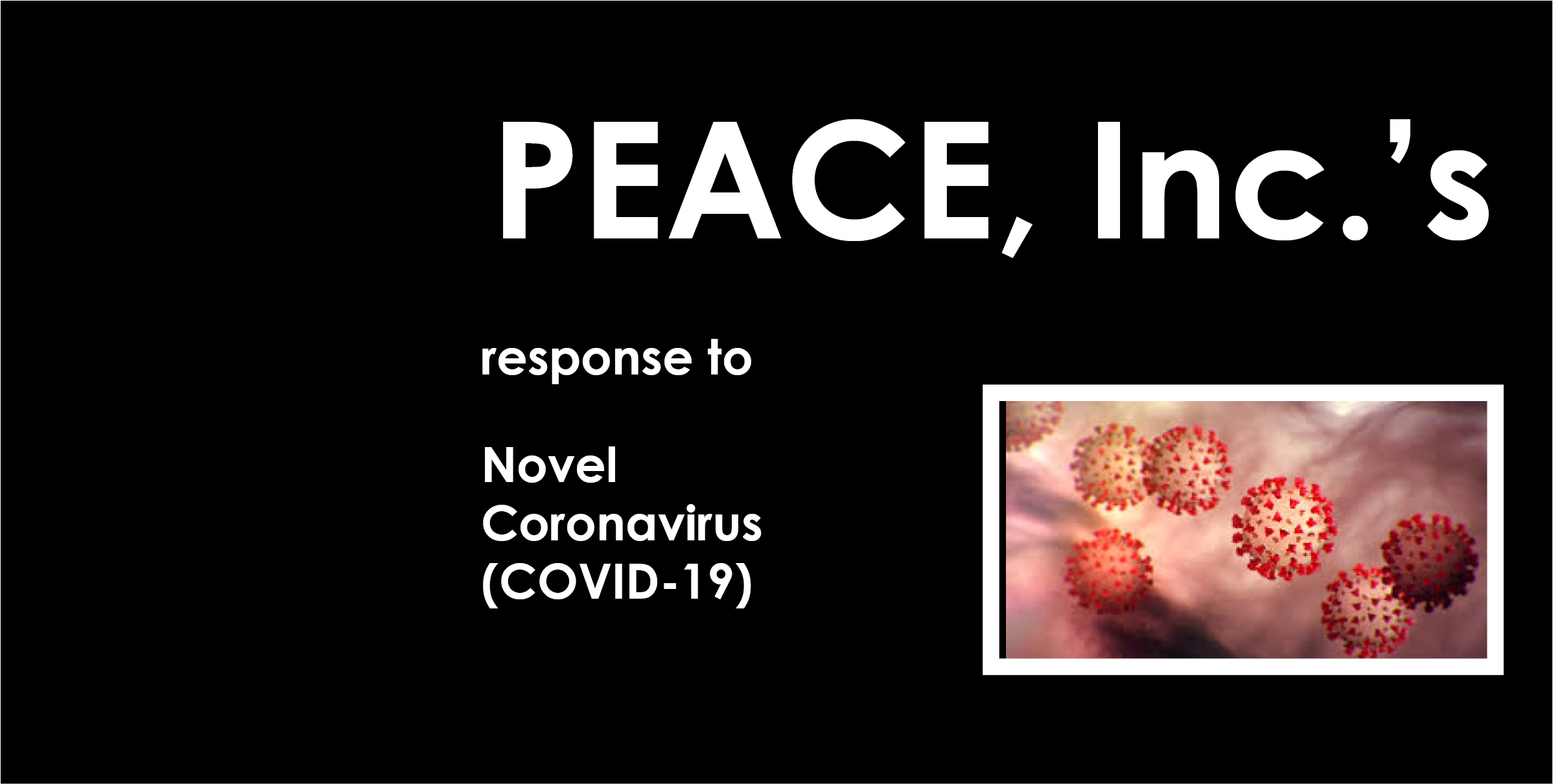 PEACE, Inc.'s response to COVID-19