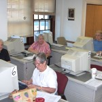 seniors in computer center