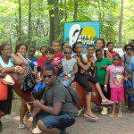 group of kids at water safari park